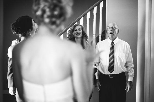 10 emocionantes reacciones del padre de la novia ante el first look 8