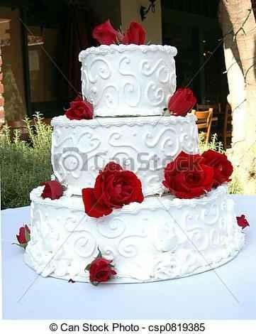 torta bianco e rosso