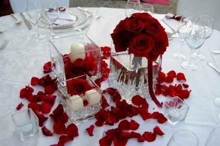 Rose petali e candele