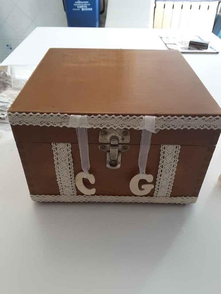 Ricevimento regali - bauletto porta buste - work in progress - 1