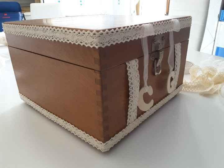 Ricevimento regali - bauletto porta buste - work in progress - 2