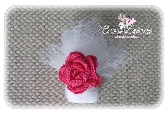 Segnaposto confetto e rosa uncinetto - 1
