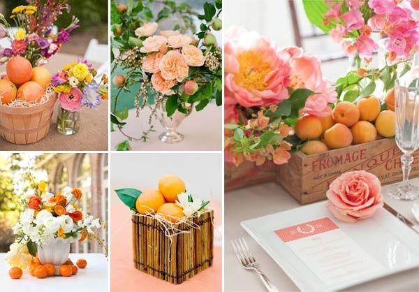 Allestimenti floreali con frutta e verdura moda nozze forum - Centro tavola con frutta ...