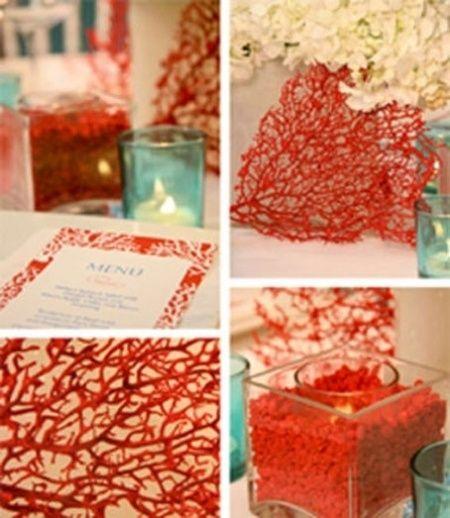 Matrimonio Tema Corallo : Tema marino ma color rosso organizzazione matrimonio