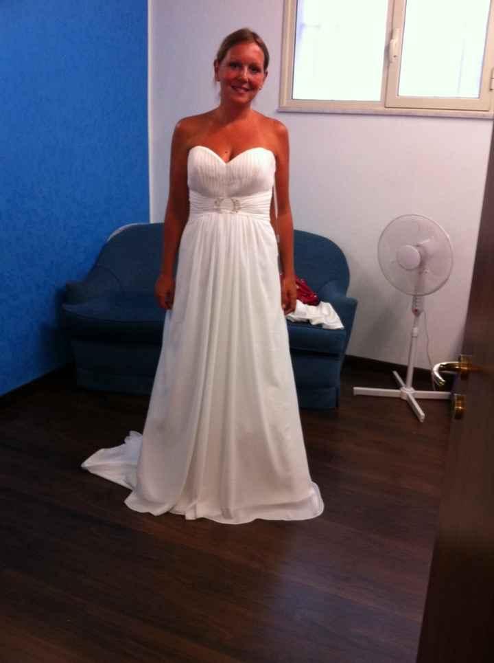 L'abito durante le prove e l'abito il giorno delle nozze - 1