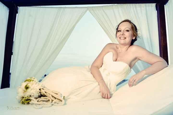 L'abito durante le prove e l'abito il giorno delle nozze - 2