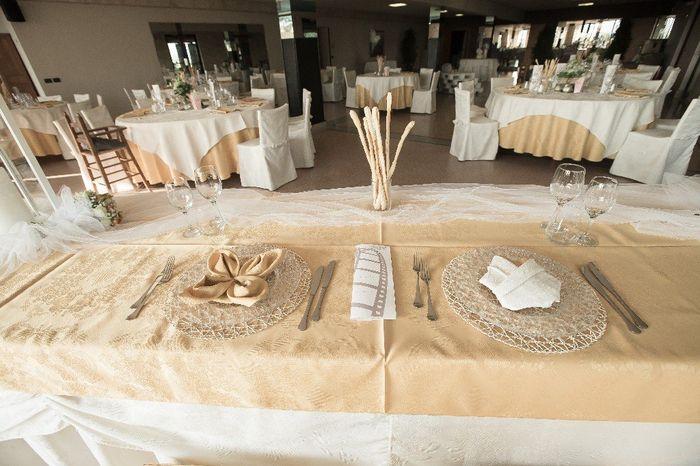 tavolo sposi apparecchiati