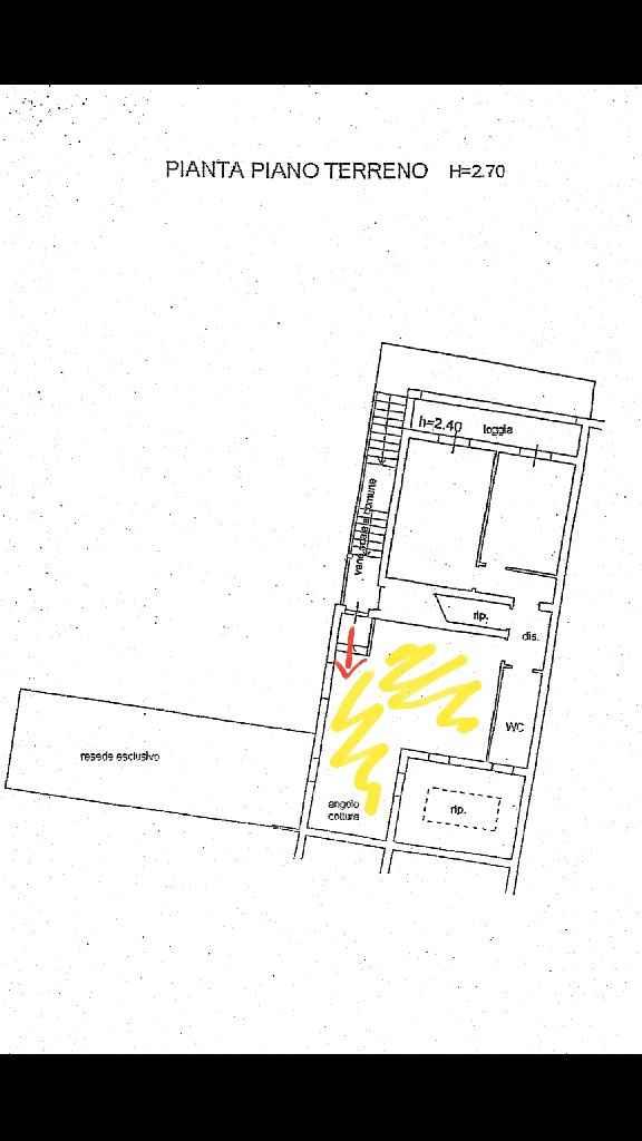 Ambiente unico cucina/soggiorno - 1