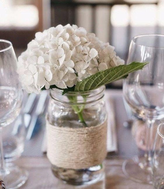 Ortensie, decorazioni, fiori, bianco, semplice
