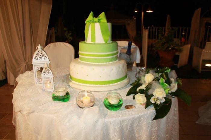 La wedding cake!!
