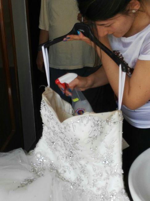 Tutorial lavaggio abito da sposa..in casa! - 1