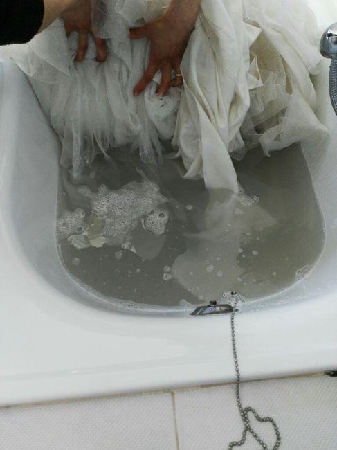 Tutorial lavaggio abito da sposa..in casa! - 3