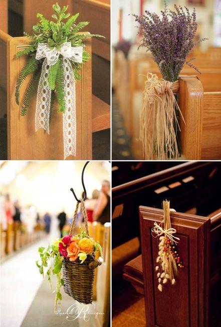 Addobbi Chiesa Matrimonio Country Chic : Addobbi per la chiesa foto