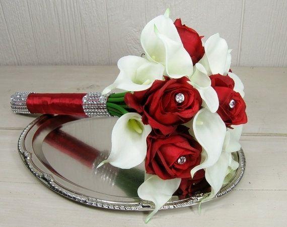 Bouquet Sposa Rose Bianche E Rosse.Idea Bouquet Rose Rosse E Calle Bianche Moda Nozze Forum