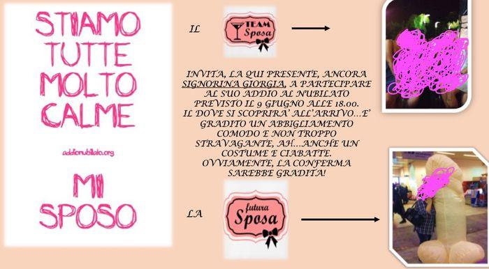 Favorito Invito addio al nubilato! :) - Prima delle nozze - Forum  QM79