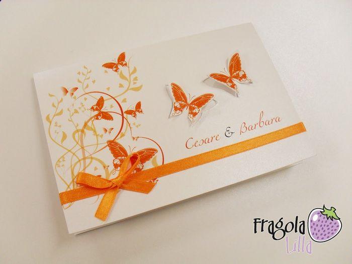 Partecipazioni di nozze farfalle - Foto