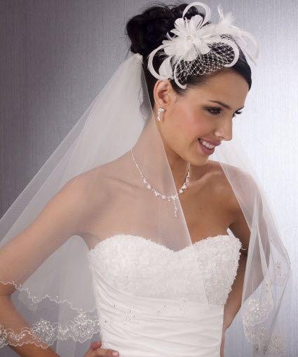 Acconciature da sposa con veletta