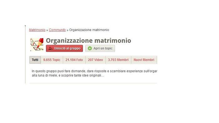 Gruppi matrimonio.com