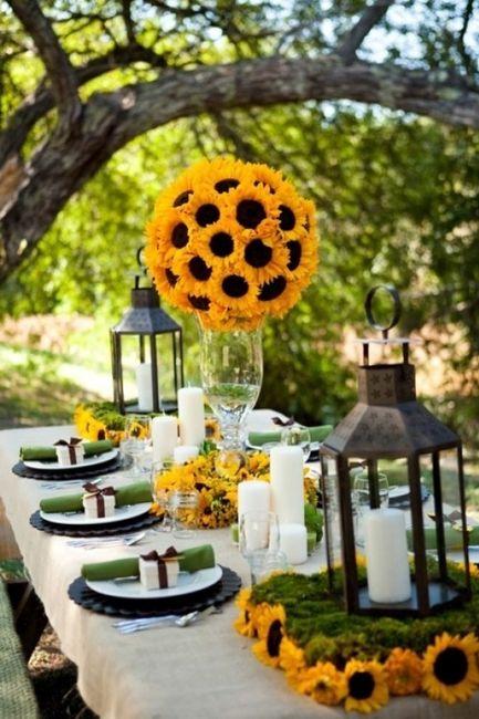 Matrimonio Girasoli Quadro : Girasoli nelle decorazioni matrimonio organizzazione