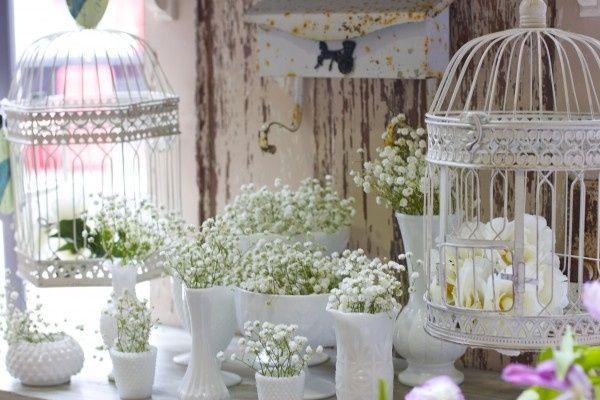 Decorazioni bianche per nozze romantiche e un po 39 vintage - Decorazioni vintage ...