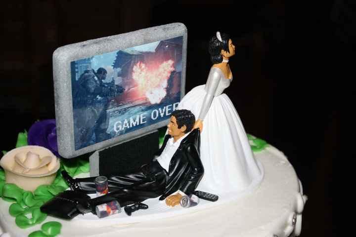 Caketopper matrimonio playstation