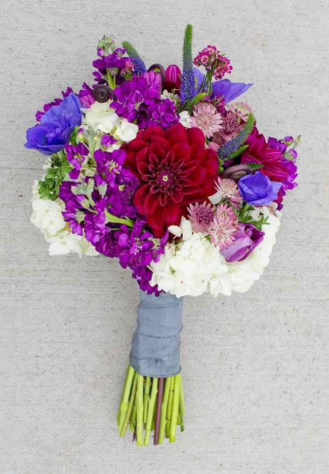 Bouquet da sposa viola