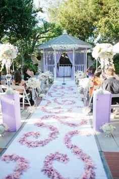 Idee matrimonio lilla e bianco