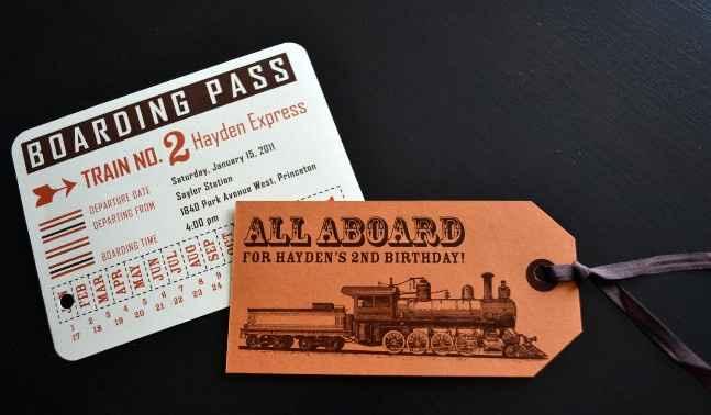 Partecipazione di nozze tema treno