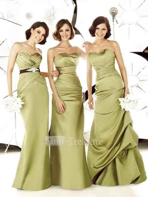 Vestito damigelle d'onore matrimonio verde