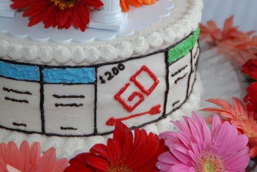 Torta nuziale tema Monopoli