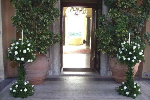 Allestimento floreale casa sposa foto organizzazione - Allestimento casa della sposa ...