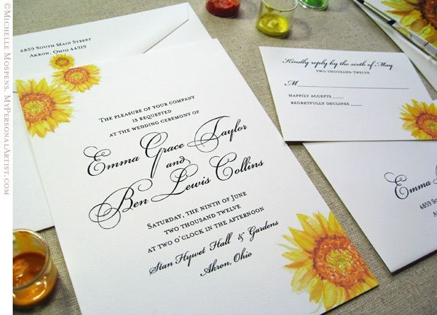 Partecipazioni Matrimonio Con Girasoli : Partecipazioni matrimonio girasoli foto