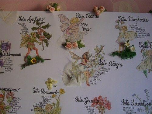 Matrimonio Tema Fate : Tableau fate dei fiori foto organizzazione matrimonio