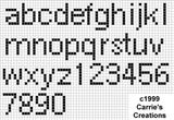 Modelli lettere punto croce