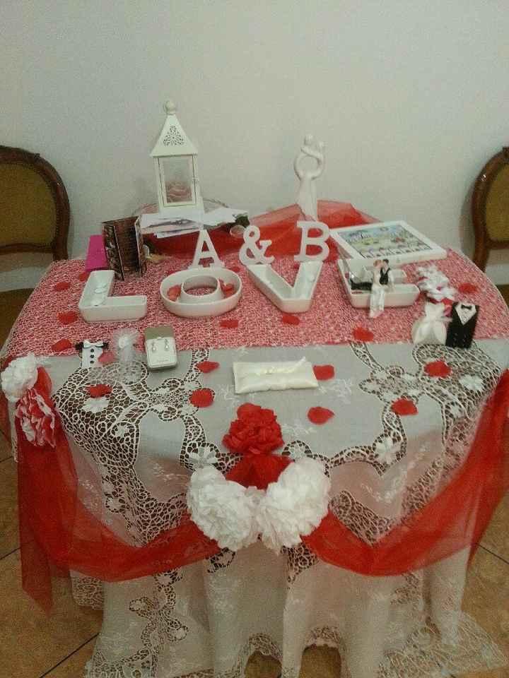 Vi mostro il mio tavolo regali e confetti a casa - 1