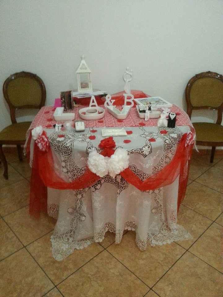Vi mostro il mio tavolo regali e confetti a casa - 2