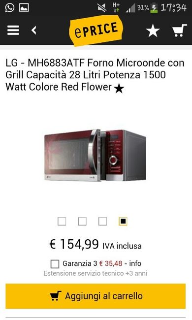 Microonde lg rosso vivere insieme forum - Forno e microonde insieme ...