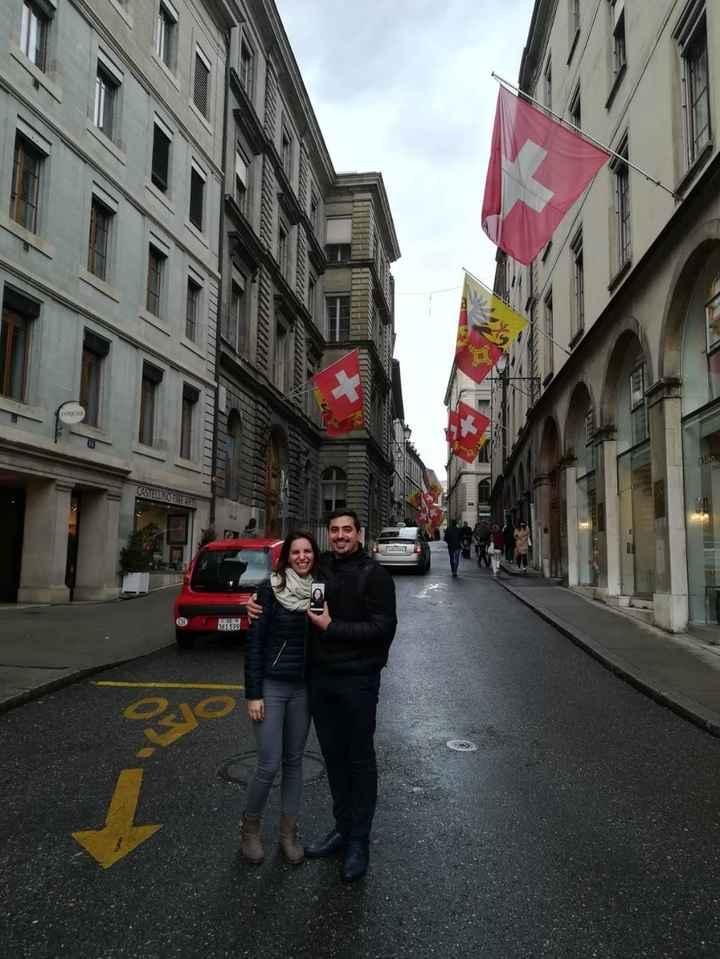 10 novembre 2018, io vivevo in Svizzera e lui venne per il nostro first date :)