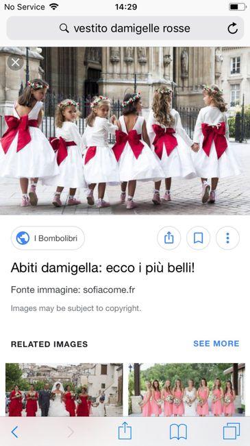 quality design 9fd64 a8392 Rosso- vestito damigelle - Moda nozze - Forum Matrimonio.com