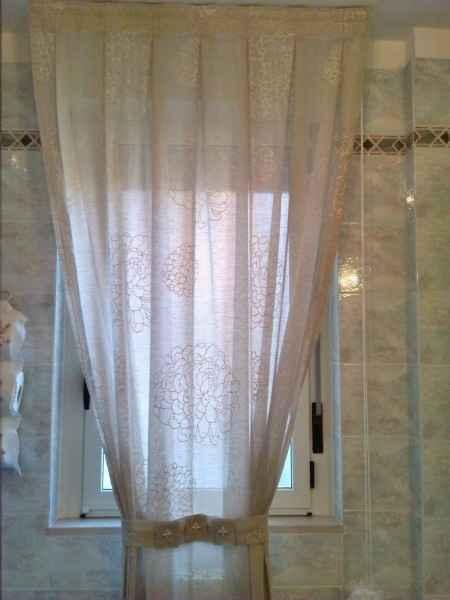 Pieghe baciate tenda bagno grande