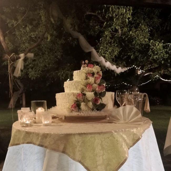 Torta nozze con fiori 8