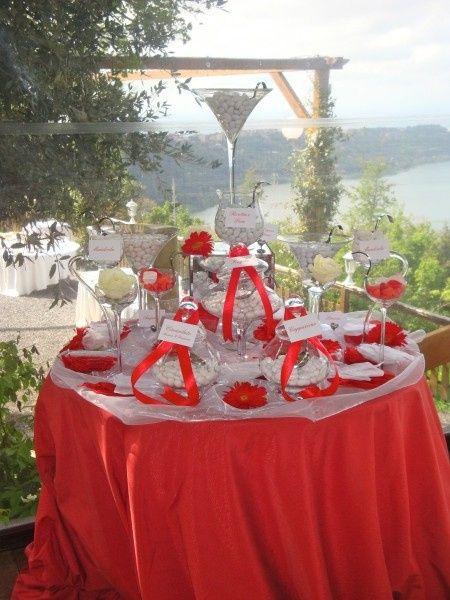 Matrimonio In Bianco E Rosso : Confettata in bianco e rosso organizzazione matrimonio