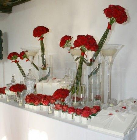 Confettata in bianco e rosso organizzazione matrimonio - Confettata matrimonio a casa ...
