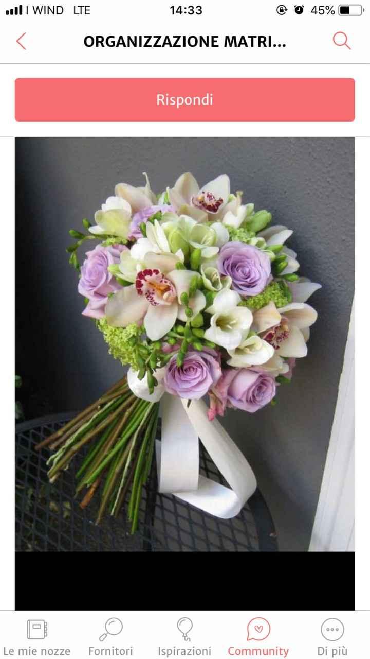 Bouquet blu e bianco - 1