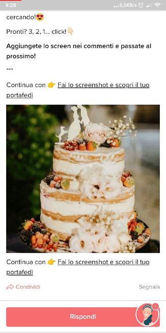 Fai lo screenshot e scopri la tua torta nuziale 7