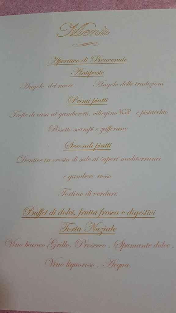 Il nostro menù 😍😋 - 1