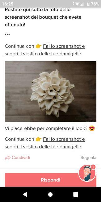 Fai lo screenshot e scopri il tuo bouquet 1