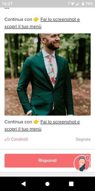 Fai lo screenshot e scopri il vestito dello sposo 3