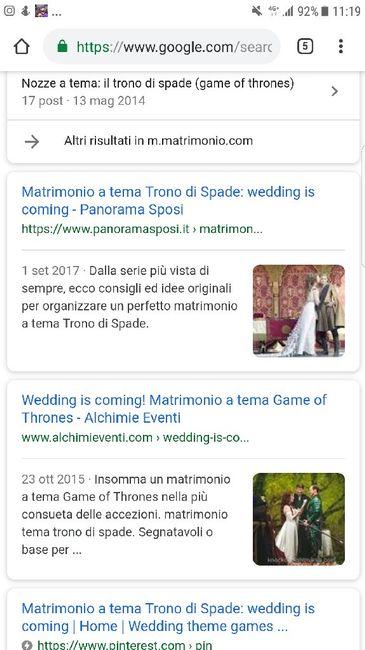 Matrimonio tema Trono di spade: aiutatemi! 1