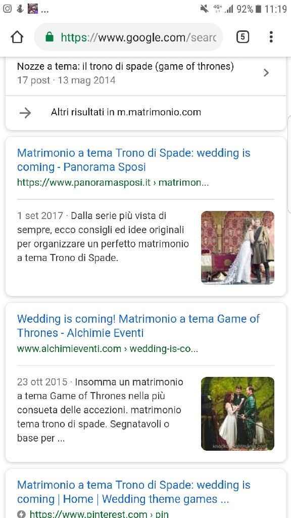 Matrimonio tema Trono di spade: aiutatemi! - 1